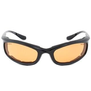 Harley Davidson Sunglasses HDSZ 702 BLK-14 Black Frame Orange Lens