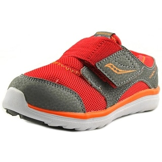 Saucony Baby Kineta A/C Infant W Round Toe Leather Gray Sneakers