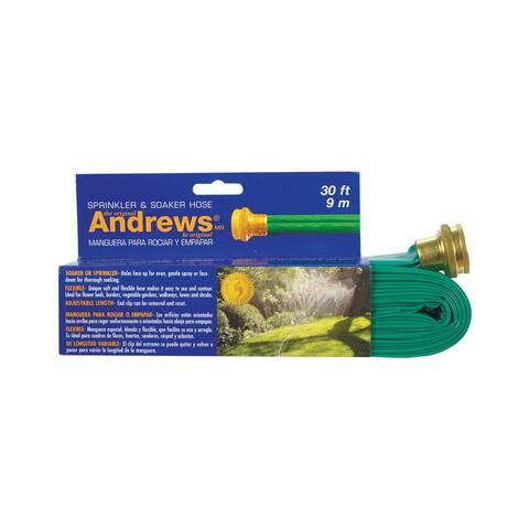 Andrews 10-12346 Gentle Soaker, Vinyl, Green, 30'