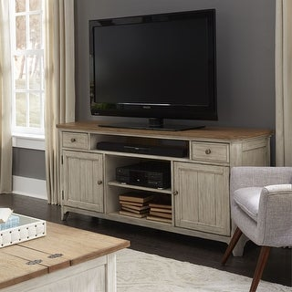 Link to Farmhouse Reimagined Antique White and Chestnut 67-inch Entertainment TV Stand Similar Items in Entertainment Units