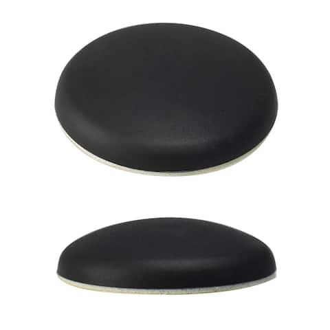 Rubber Anti-slip Wedge Door Stopper Doorstops Protector Self-stick Black 2pcs