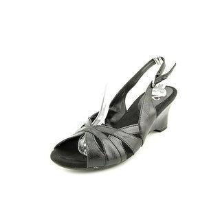 A2 By Aerosoles Zenchilada Women Open Toe Synthetic Black Wedge Heel