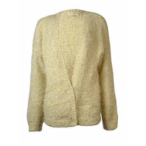 Maison Jules Women's Flecked Eyelash Knit Cardigan - Vanilla Ice Combo