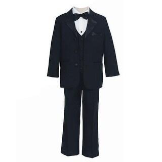 Sweet Kids Baby Boys Black Dinner Jacket Shirt Bow Tie Vest Pants Suit 6-24M