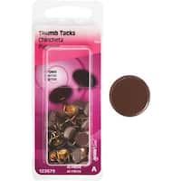HILLMAN 40Pc Brown Thumb Tack