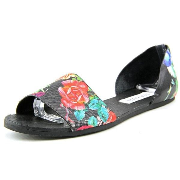 Latest Steve Madden Twostp Open Toe Synthetic Sandals Black For Women