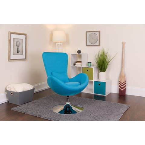 LeatherSoft Swivel Side Reception Chair with Bowed Seat - Guest Seating