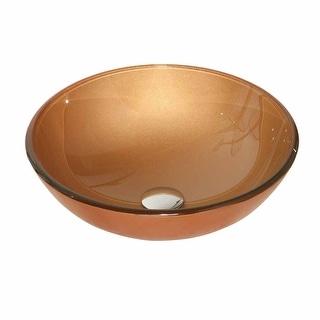 Tempered Glass Vessel Orange Bathroom Sink Pop-up In Renovator's Supply