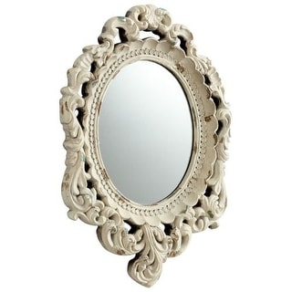 Cyan Design Ornate Illusions Mirror 20 x 14 Ornate Illusions Oval Resin Frame Mirror
