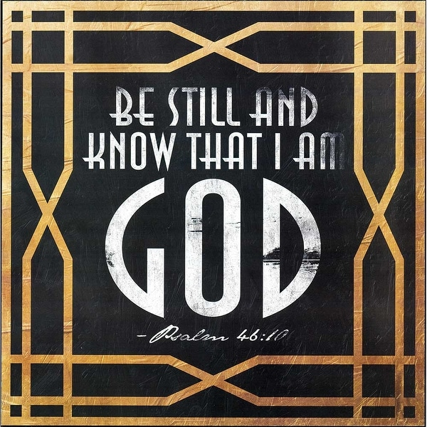 """12"""" Black and White Bible Quote Square Wall Plaque - N/A"""