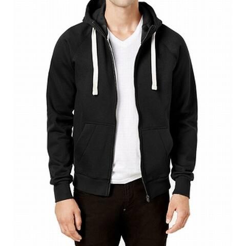 G-Star Raw Mens Sweater Black Size 2XL Full Zip Hooded Drawstring
