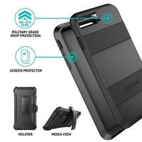 Pelican Voyager 4 Layer Extreme Protection Case for iPhone 8 & iPhone 6/6s/7 - Black