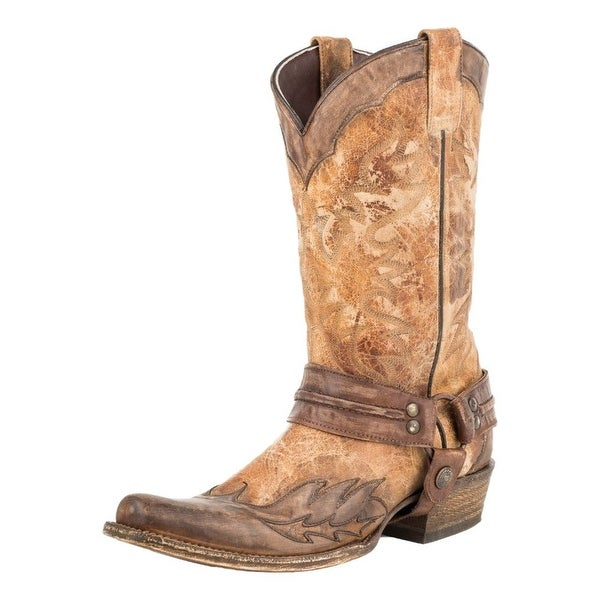 Stetson Western Boots Mens Outlaw Leather Tan