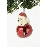 "2.25"" Laying Cocker Spaniel Jingle Buddies Christmas Ornament - YELLOW"