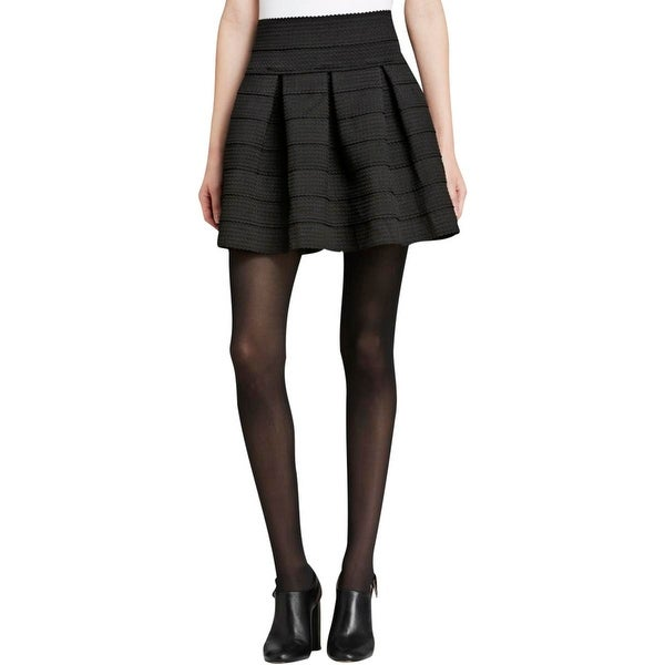 Soprano Womens A-Line Skirt Scalloped Pleated