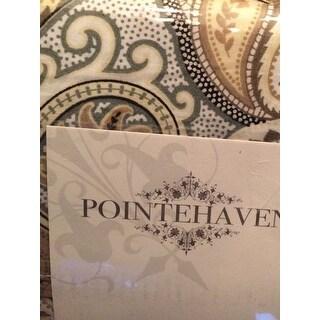 Pointehaven Printed Percale Sheet Set