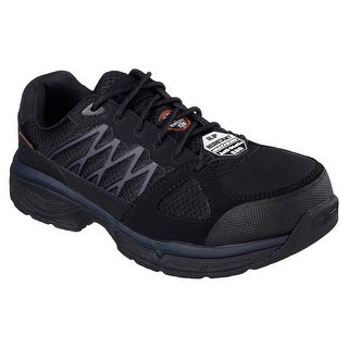 Skechers 77083 BLK Men's CONROE-SEARCY ESD Work
