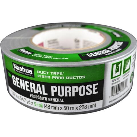 "Nashua 1086769 General Purpose Duct Tape, Silver, 9 Mil, 1.89"" x 54.7 Yd, #394"