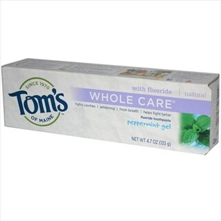 Tom S Of Maine Whole Care Gel Toothpaste Peppermint - 4.7 Oz