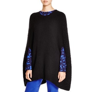 DKNY Womens Cape Sweater Wool Silk Blend