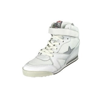 Ash Jazz Bis Round Toe Leather Sneakers
