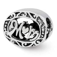 Sterling Silver Reflections Mom Bead (4mm Diameter Hole)