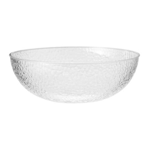 """Pack of 6 Clear Disposable Pebble Bowls 12.5"""""""