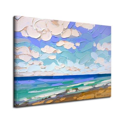 Blue Playa' Wrapped Canvas Coastal Wall Art by Sarah LaPierre