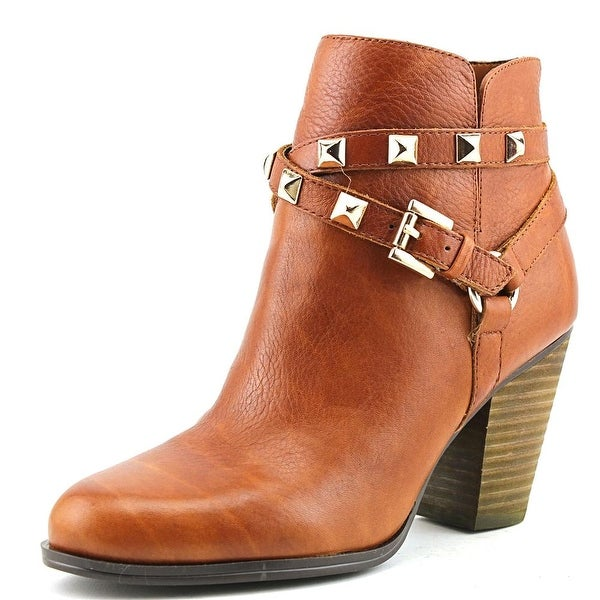 Guess Fran Women Round Toe Leather Brown Ankle Boot