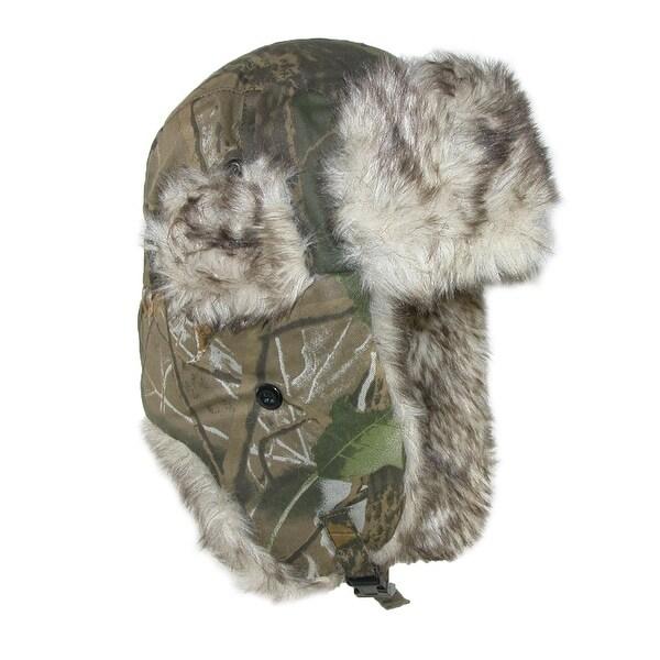 CTM® Men's Camo Winter Aviator Hat with Ear Flaps