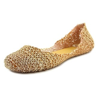 Steve Madden Coral Ref Women Square Toe Synthetic Gold Flats