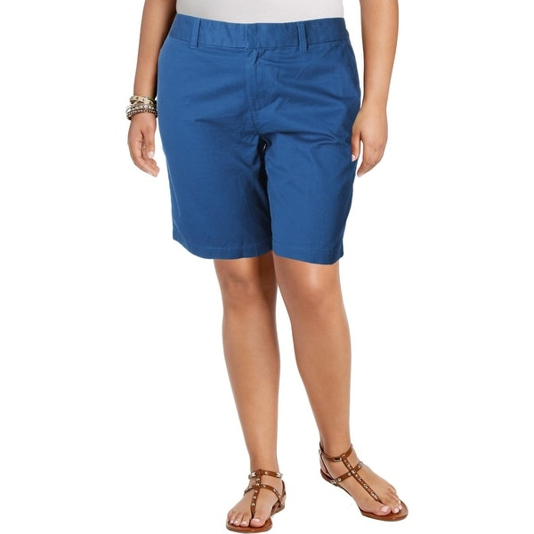 Tommy Hilfiger Womens Holly Casual Shorts Twill Bermuda