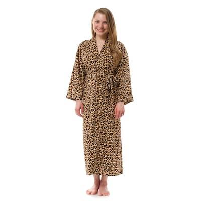 Long Leopard Robe, Women's Leopard Robe