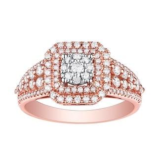Brand New 0.77 Carat Round Brilliant Cut Natural G-H/SI1 Diamond Engagement Ring - White G-H