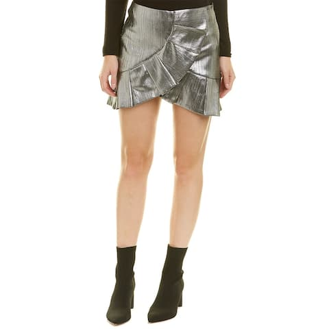 Endless Rose Metallic Mini Skirt - Silver