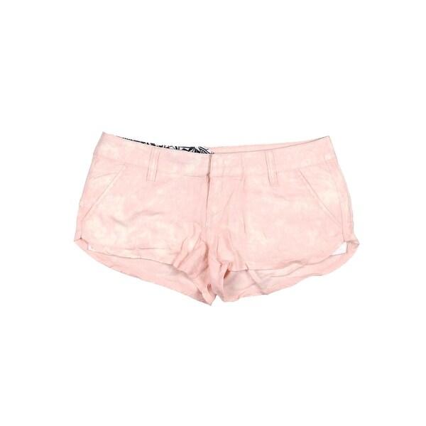 Volcom Womens Juniors Ur A Pistol Casual Shorts Acid Wash Flat Front
