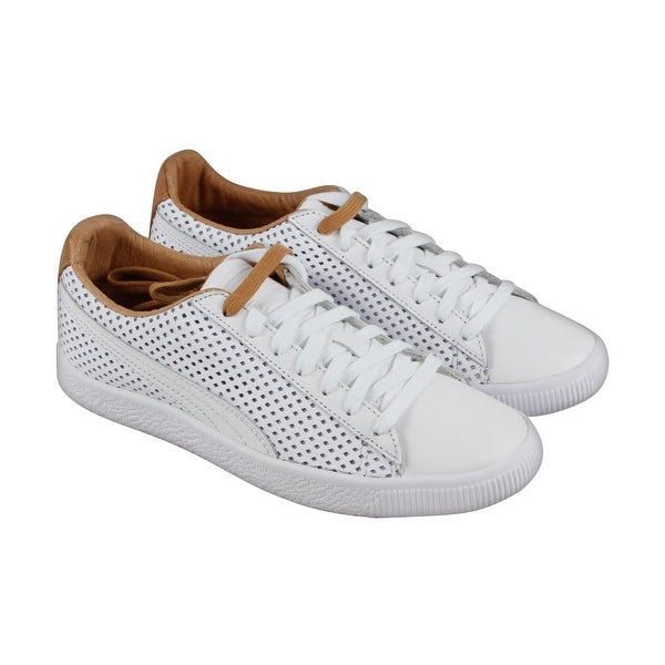 180406b7481c Shop Puma Clyde Colorblock 2 Mens White Leather Lace Up Sneakers ...