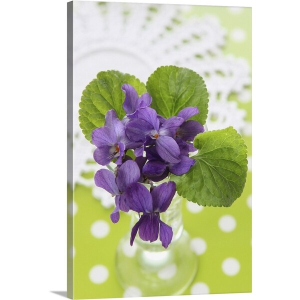 """""""Posy of violet flowers"""" Canvas Wall Art"""