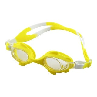 Clear Vision Anti Fog Adjustable Belt Swimming Goggles Glasses Yellow for Kids