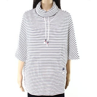 Joules NEW White Women Size Small S Cowl Neck Striped Pull-Over Sweater