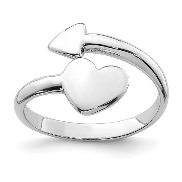 10K Gold Yellow Gold Heart and Arrow Toe Ring