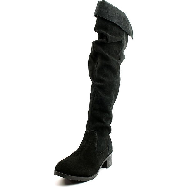 Matisse Cabriolet Women Round Toe Suede Black Over the Knee Boot