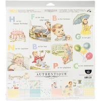 """Authentique Collection Kit 12""""X12""""-Beginnings"""