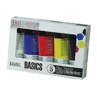 Liquitex 101082 Basics Acrylic Paint 5-Color Set