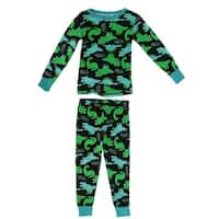 Dead Tired Toddler Long Sleeve Novelty Print Cotton Pajamas