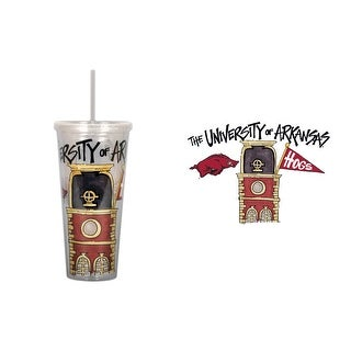 University of Arkansas 22oz Tumbler with Straw