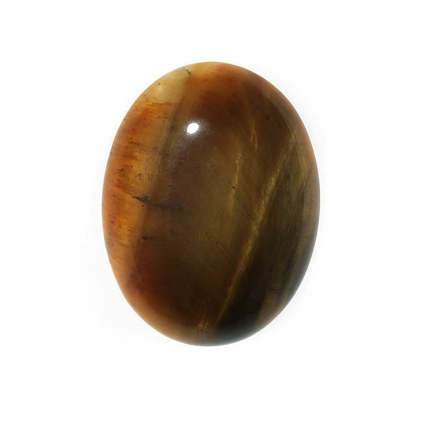 Tiger Eye Gemstone Oval Flat-Back Cabochons 25x18mm (1 Piece)