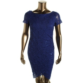 Onyx Nite Womens Lace Sequined Cocktail Dress - 6