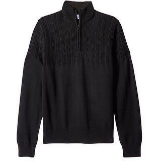 Calvin Klein NEW Black Mens Size Small S Pullover Quarter Zip Sweater