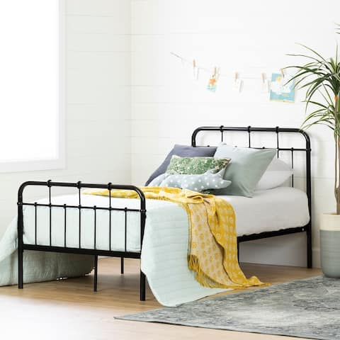 South Shore Cotton Candy Black Complete Bed Size - Twin